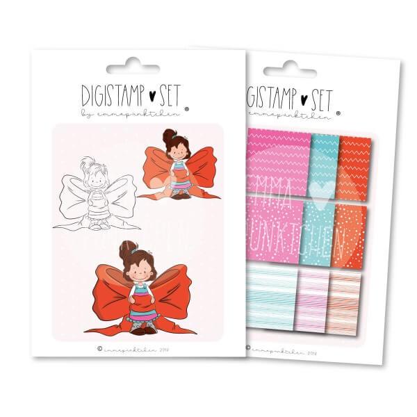emmapünktchen ® - present girl DigiStamp Set