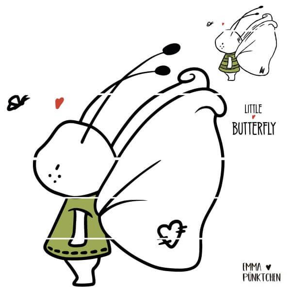 emmapünktchen ® - butterfly DigiStamp