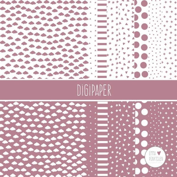 emmapünktchen ® - DigiPaper rose