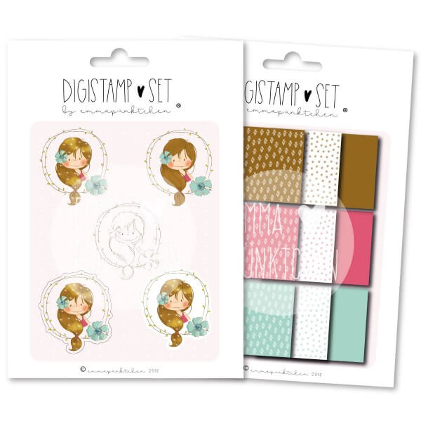 emmapünktchen ® - petite fille DigiStamp