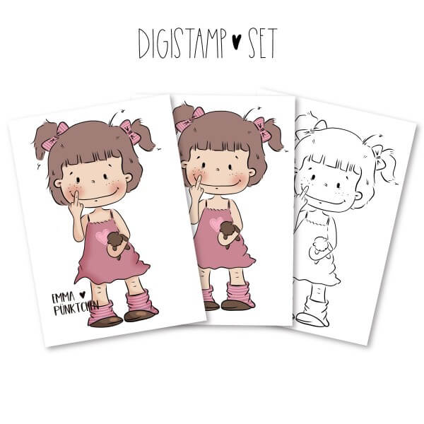 emmapünktchen ® - statement girl DigiStamp