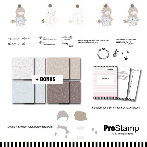 emmapünktchen ® - winterbär ProStamp + BONUS