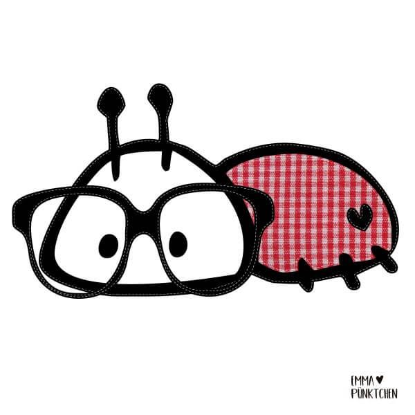 emmapünktchen ® - puhbug applikationsvorlage