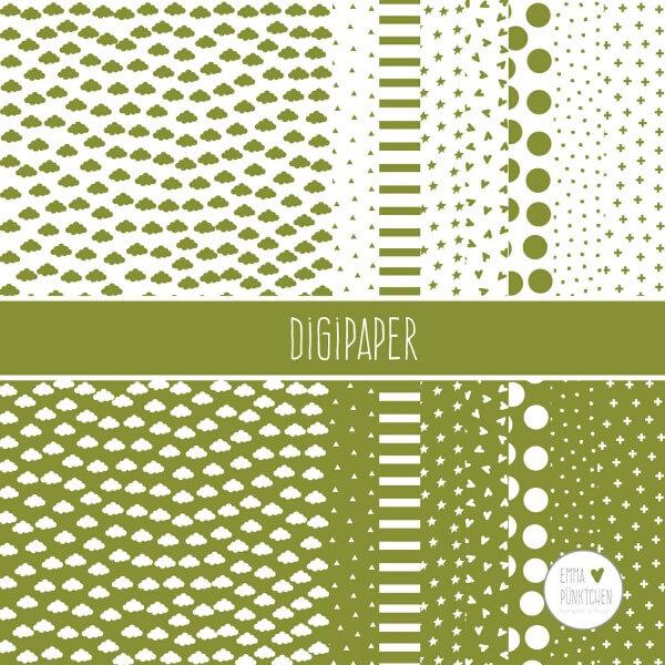 emmapünktchen ® - DigiPaper grün