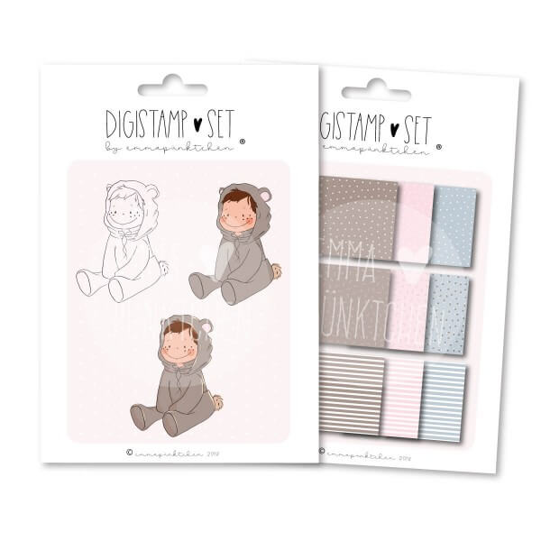 emmapünktchen ® - hello baby DigiStamp Set