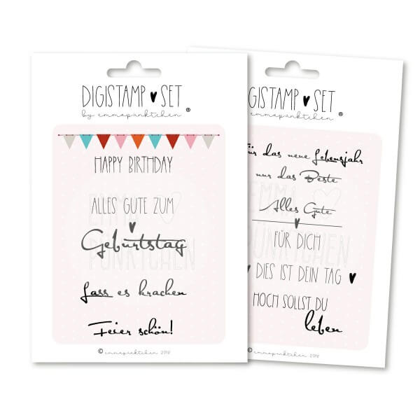 emmapünktchen ® - happy birthday DigiStamp-Set