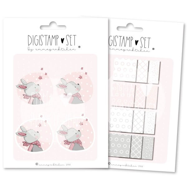 emmapünktchen ® - hase luna DigiStamp Set