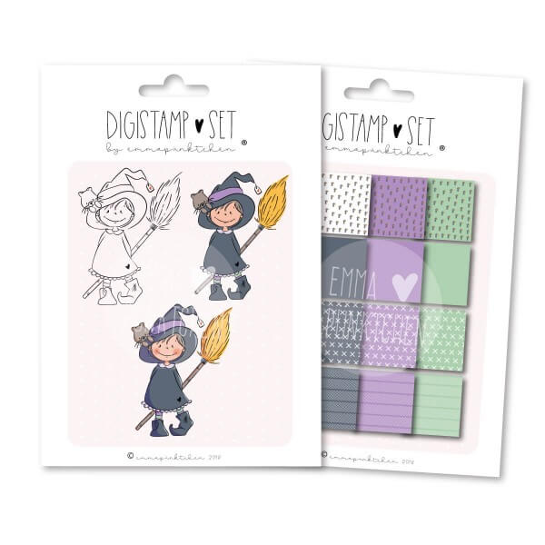 emmapünktchen ® - kleine hexe DigiStamp Set