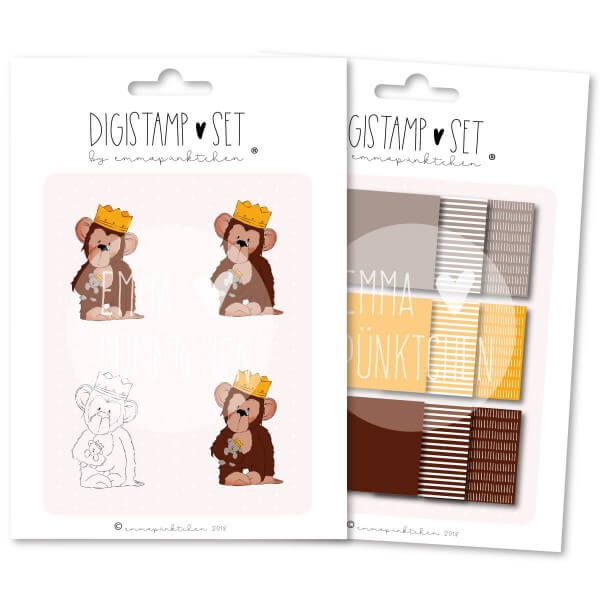 emmapünktchen ® - king lui DigiStamp Set