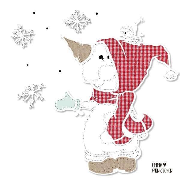 emmapünktchen ® - little snowman applikation