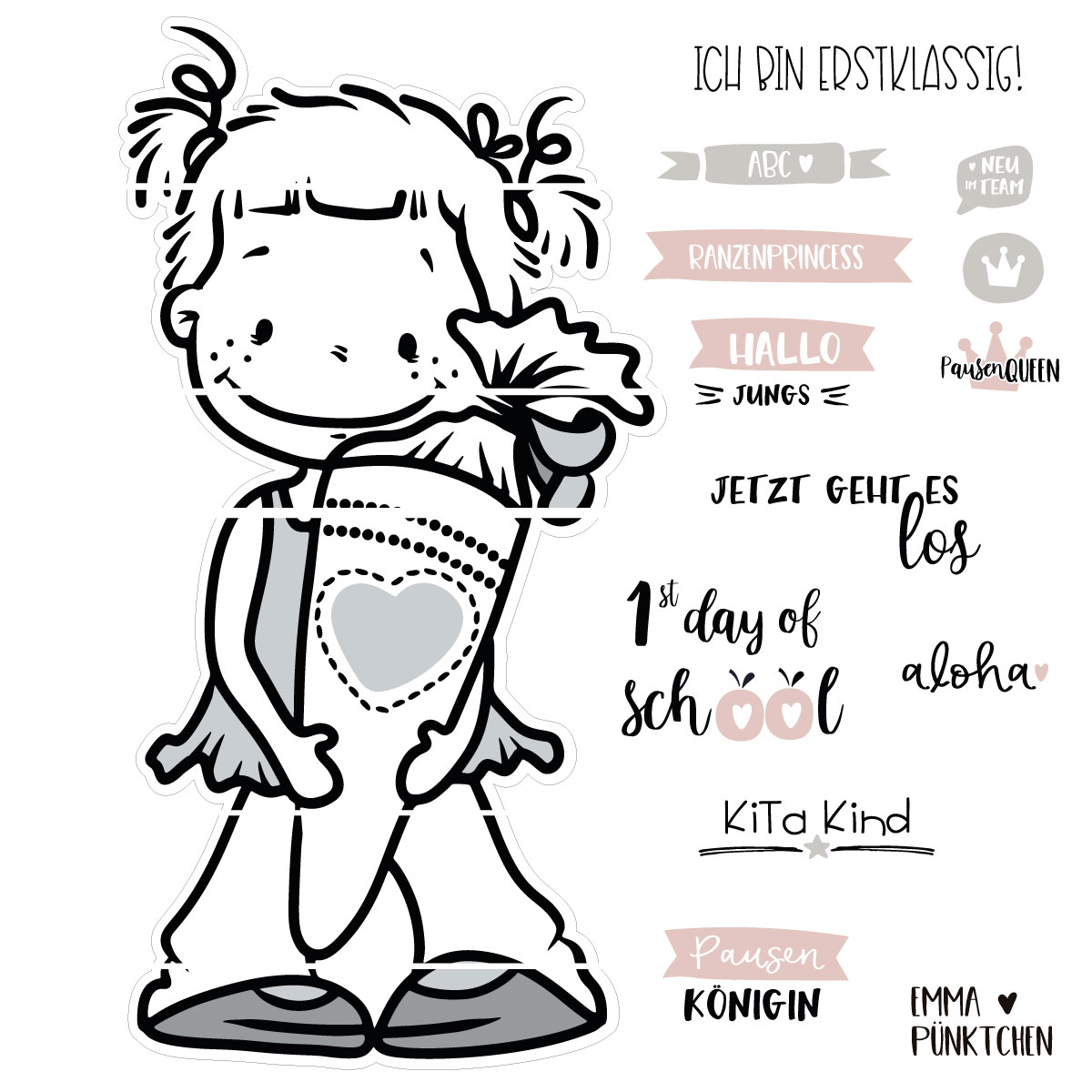 M/ädchen Kinderzeuch - Baby Jungen M/ädchen T-Shirt Kurzarm Emma Punkte Bunt Name