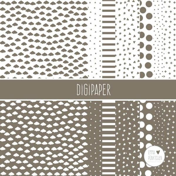 emmapünktchen ® - DigiPaper braun