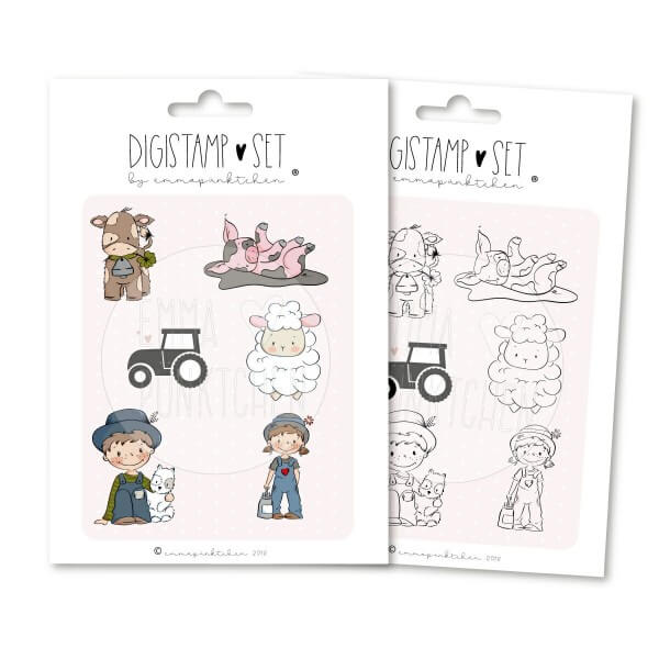 emmapünktchen ® - farmleben DigiStamp-Set