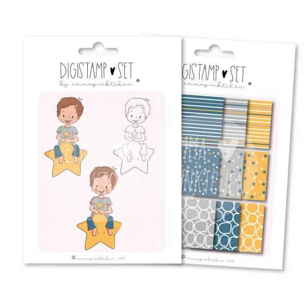emmapünktchen ® - sternenreiter DigiStamp Set
