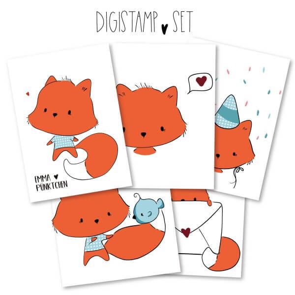 emmapünktchen ® - fox DigiStamp