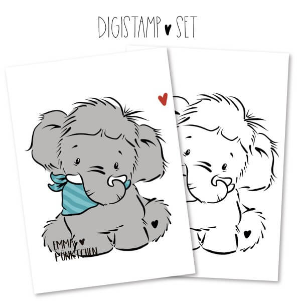 emmapünktchen ® - enno elefant DigiStamp