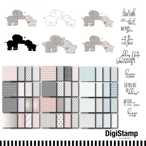 emmapünktchen ® - elefantenbande DigiStamp