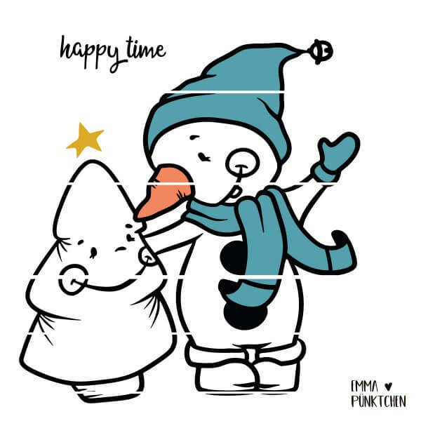 emmapünktchen ® - little snowman, happy tree