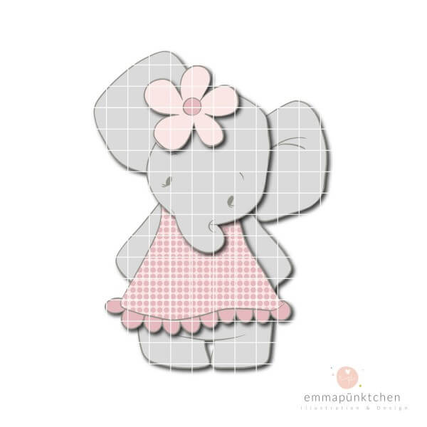 emmapünktchen ® - elefantine CUT & GLUE