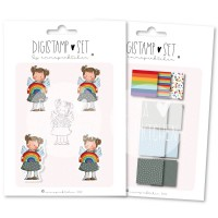 emmapünktchen ® - regenbogenkind DigiStamp Set