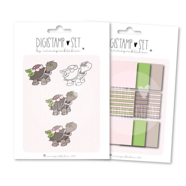 emmapünktchen ® - blumenkrötchen DigiStamp Set