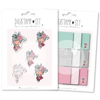 emmapünktchen ® - petite fleur DigiStamp Set