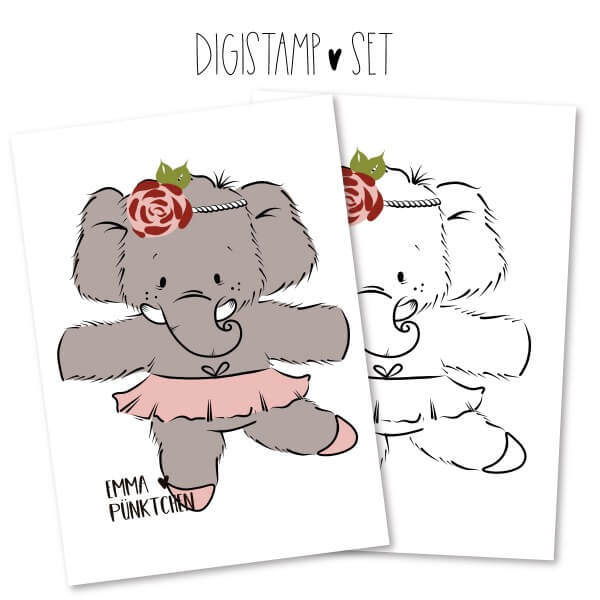 emmapünktchen ® - elly elefant DigiStamp
