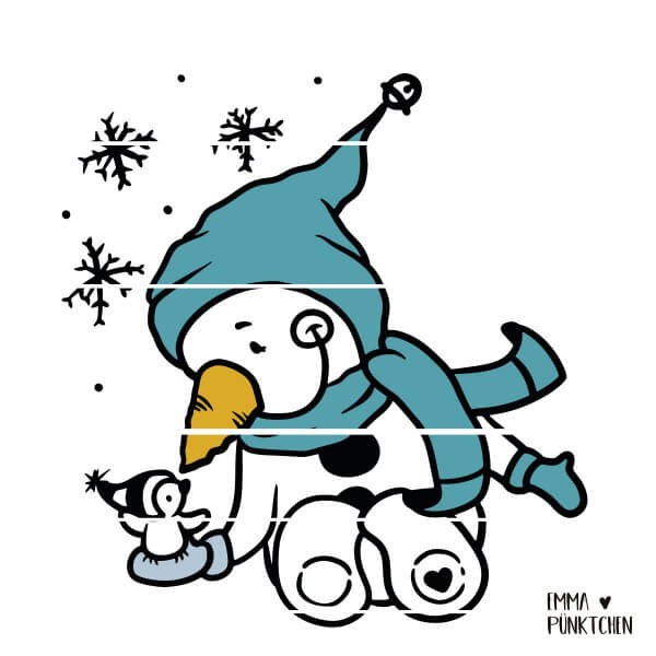 emmapünktchen ® - little snowman, tiny bird