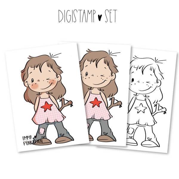 emmapünktchen ® - kleine schwester DigiStamp