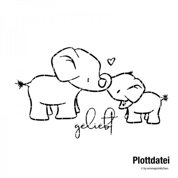 emmapünktchen ® - elefantenbande Plottdatei