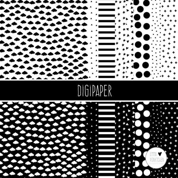 emmapünktchen ® - DigiPaper schwarz
