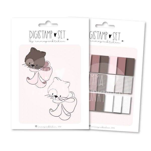 emmapünktchen ® - MissKitty DigiStamp Set