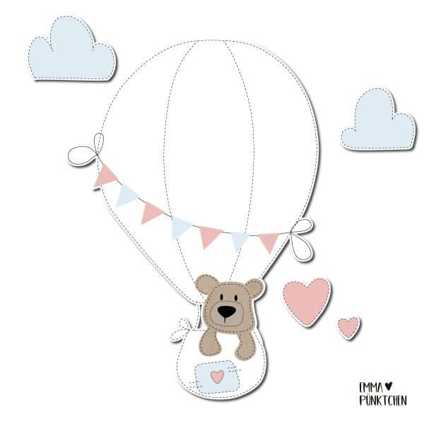 emmapünktchen ® - lukas der ballonfahrer applikation